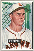Ned Garver, Pitcher, St. Louis Browns, from Picture Cards, series 5 (R406-5) issued by Bowman Gum