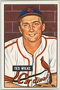 Ted Wilks, Pitcher, St. Louis Cardinals, from Picture Cards, series 5 (R406-5) issued by Bowman Gum