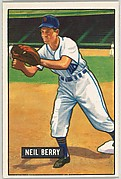 Neil Berry, Infield, Detroit Tigers, from Picture Cards, series 5 (R406-5) issued by Bowman Gum