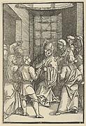 Christ before Caiaphas, from Speculum passionis domini nostri Ihesu Christi