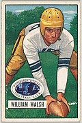 Card Number 23, William Walsh, Center, Pittsburgh Steelers, from the Bowman Football series (R407-3) issued by Bowman Gum