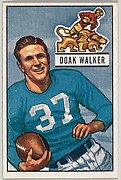 Card Number 25, Doak Walker, Halfback, Detroit Lions, from the Bowman Football series (R407-3) issued by Bowman Gum