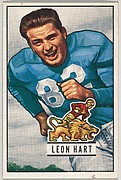 Card Number 26, Leon Hart, Fullback, Detroit Lions, from the Bowman Football series (R407-3) issued by Bowman Gum