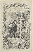 Illustration to the Tempest: Caliban and Ferdinand
