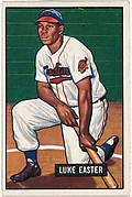 Luke Easter, 1st Base, Cleveland Indians, from Picture Cards, series 5 (R406-5) issued by Bowman Gum