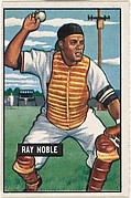 Ray Noble, Catcher, New York Giants, from Picture Cards, series 5 (R406-5) issued by Bowman Gum