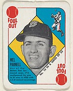 Card  Number 10, Mel Parnell, Boston Red Sox, from the Topps Red/ Blue Backs series (R414-5) issued by Topps Chewing Gum Company