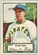 Card Number 73, William Werle, Pittsburgh Pirates, from the Topps Baseball series (R414-6) issued by Topps Chewing Gum Company