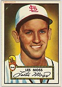 Card Number 143, Les Moss, St. Louis Browns, from the Topps Baseball series (R414-6) issued by Topps Chewing Gum Company