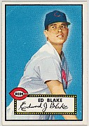 Card Number 144, Ed Blake, Cincinnati Reds, from the Topps Baseball series (R414-6) issued by Topps Chewing Gum Company