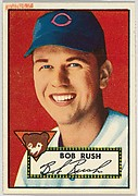Card Number 153, Bob Rush, Chicago Bears, from the Topps Baseball series (R414-6) issued by Topps Chewing Gum Company