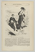Wood engraving after painting by Delacroix of Hamlet and Horatio