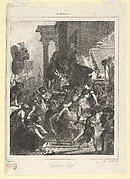 The Justice of Trajan, plate for l'Album des Salons