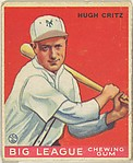 Hugh Gritz, New York Giants, from the Goudey Gum Company's Big League Chewing Gum series (R319)