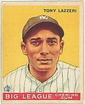 Tony Lazzeri, New York Yankees, from the Goudey Gum Company's Big League Chewing Gum series (R319)