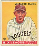 John (Bud) Clancy, Brooklyn Dodgers, from the Goudey Gum Company's Big League Chewing Gum series (R319)