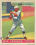 Bob O'Farrell, St. Louis Cardinals, from the Goudey Gum Company's Big League Chewing Gum series (R319)