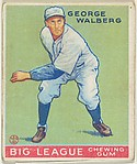 George Walberg, Philadelphia Athletics, from the Goudey Gum Company's Big League Chewing Gum series (R319)