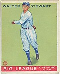 Walter Stewart, Washington Senators, from the Goudey Gum Company's Big League Chewing Gum series (R319)