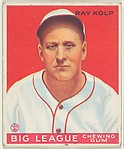 Ray Kolp, Cincinnati Reds, from the Goudey Gum Company's Big League Chewing Gum series (R319)