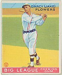 Darcy (Jake) Flowers, Brooklyn Dodgers, from the Goudey Gum Company's Big League Chewing Gum series (R319)