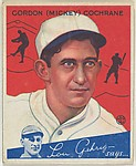 Gordan (Mickey) Cochrane, Manager, Detroit Tigers