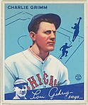 Charlie Grimm, Manager, Chicago Cubs