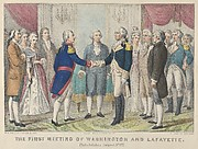 The First Meeting of Washington and Lafayette—Philadelphia, August 3rd, 1777