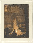 Children Holding a Candle in a Church