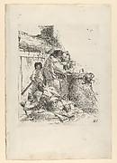 Three magicians burning a snake, from the Scherzi