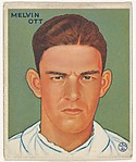 Melvin Ott, New York Giants, from the Goudey Gum Company's Big League Chewing Gum series (R319)