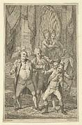 Frontispiece for Fanny Burney's 'Evelina': Mr. Lovel Bitten in the Ear by Captain Mirvan's Monkey, vol. III