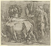 Cadmus Tilling the Field Where He Sawed the Dragon's Teeth