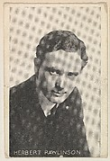 Herbert Rawlinson, from the Black and White Movie Stars series (D1), issued by the E. H. Koester Baking Company