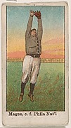 Magee, Center Field, Philadelphia, National League, from the 50 Ball Players series (E101)