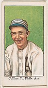 Collins, 2nd Base, Philadelphia, American League, from the 50 Ball Players series (E101)