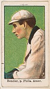 Bender, Pitcher, Philadelphia, American League, from the 50 Ball Players series (E101)