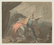 A King and a Horse with Ghostly Women