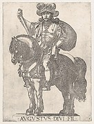 Plate 2: Emperor Augustus on Horseback, from 'the First Twelve Roman Caesars'
