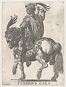Plate 3: Emperor Tiberius on Horseback, from 'The First Twelve Roman Caesars'