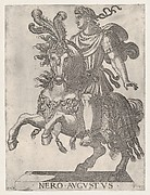 Plate 6: Emperor Nero on Horseback, from ' The First Twelve Roman Caesars'