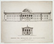 Design for Improving the Old Alm's-House, North Side of City Hall Park, Facing Chambers Street, New York
