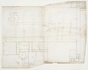 Ville d'Este, Gardens, Quirinal, plan (recto) blank (verso)