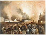 Coronation of Alexander II, Moscow, September 17, 1856: Fireworks Display before the Cadets' Building