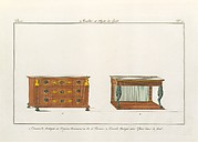 Design for a Commode and Console (Plate 10), in Collection de Meubles et Objets de Goût, vol. 1