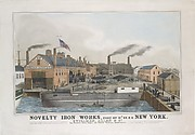 Novelty Iron works, Foot of 12th St. E.R. New York. Stillman, Allen & Co., Iron Founders, Steam Engine and General Machinery Manufacturers