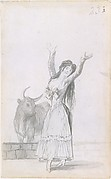 A Young Woman and a Bull