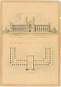 Design Adopted by Governor Mason for University of Michigan (elevation and plan)