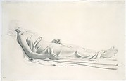 Drapery Study for the Figure of the Dying Mary Magdalen