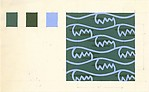 Fabric Design, abstract pattern in blue and green
